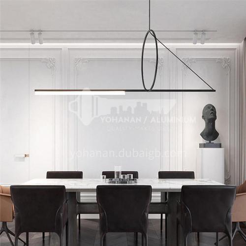 Creative avant-garde geometric model minimalist LED dining room living room post-modern triangle chandelier round-YDH-9008