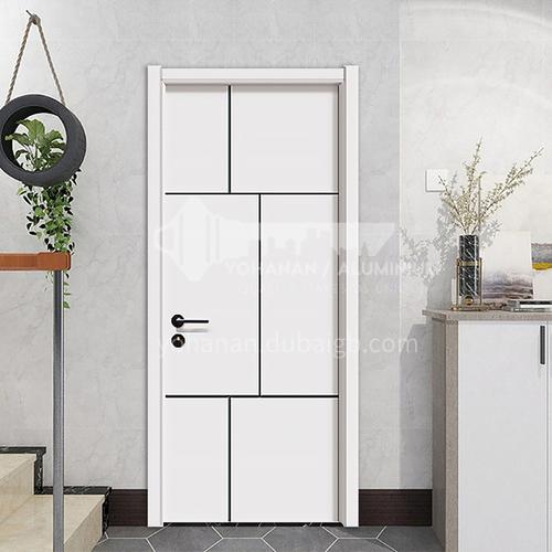 Simple design mute composite paint solid wood door hotel apartment door 26