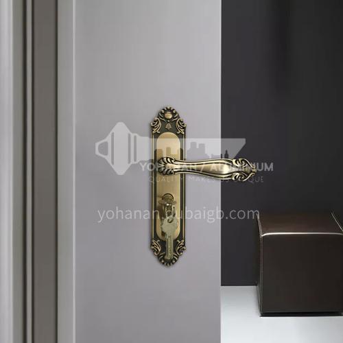 רטרו high-end סגסוגת אבץ מצופה נחושת שקט מנעול דלת חדר מנעול נירוסטה