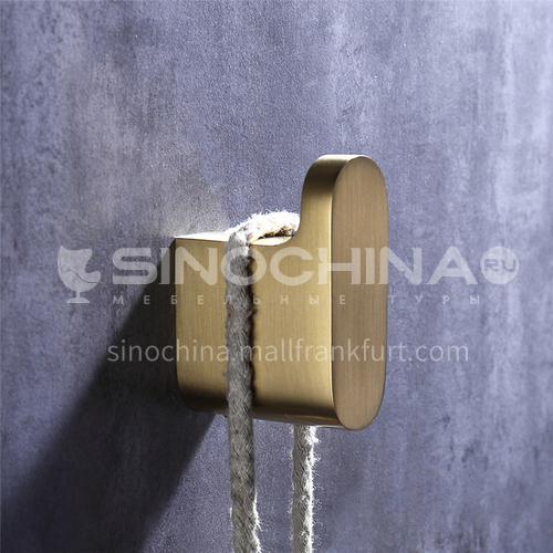 Painted gold bathroom shower hanging wall clothes hook  HDP-25201