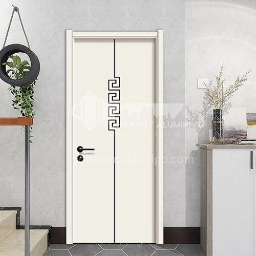 Simple design mute composite paint solid wood door hotel apartment room door 29