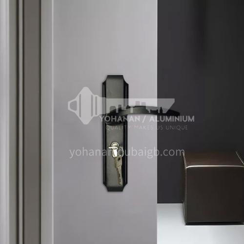 B Aluminum high-grade black door lock wooden door wood plastic door lock set 09