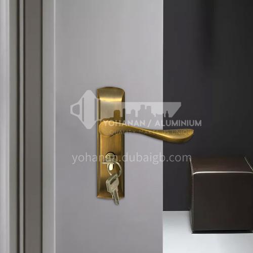 B סגנון קלאסי סגסוגת אלומיניום ברונזה צבע וילה בית דלת עץ נעילת דלת בית סט 04