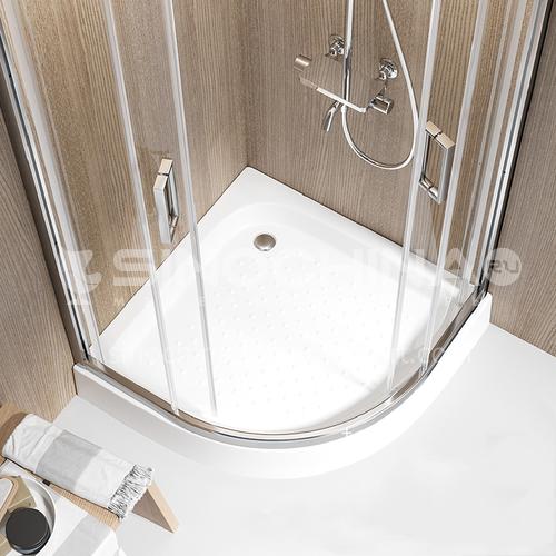 Toilet Acrylic Bottom Basin Arc Fan Shape Showertray LP-042
