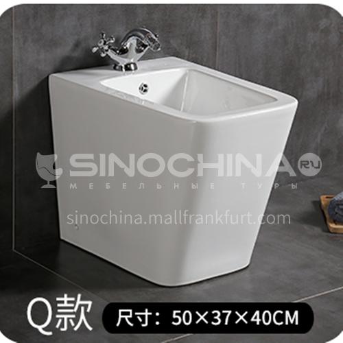 Floor-standing bidet sink basin bathroom bidet bidet vertical female wash basin bathroom ceramic bidet