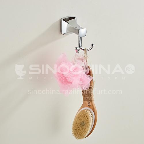 Factory direct sale silver hook double hook metal bathroom coat hook coat hook MY80801