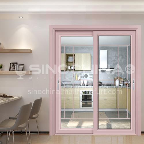 1.2mm aluminum alloy sliding door with craft glass