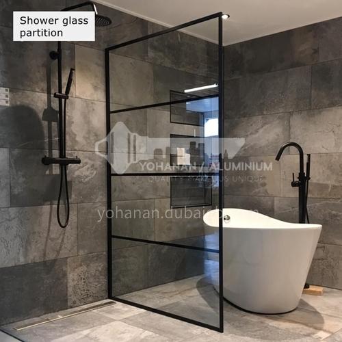 Black   overall bath screen   bathroom toilet partition   sliding door screen glass doo  r shower room  custom GH Atype