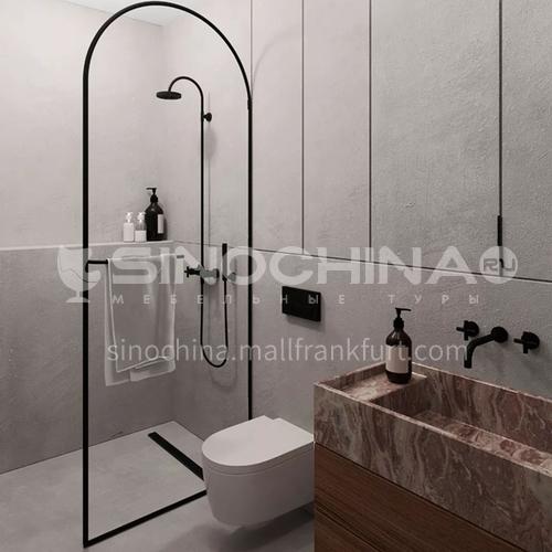 Arch-shaped overall  bath screen   bathroom toilet one-word partition   sliding door screen glass door  shower room   customization   GD Dtype
