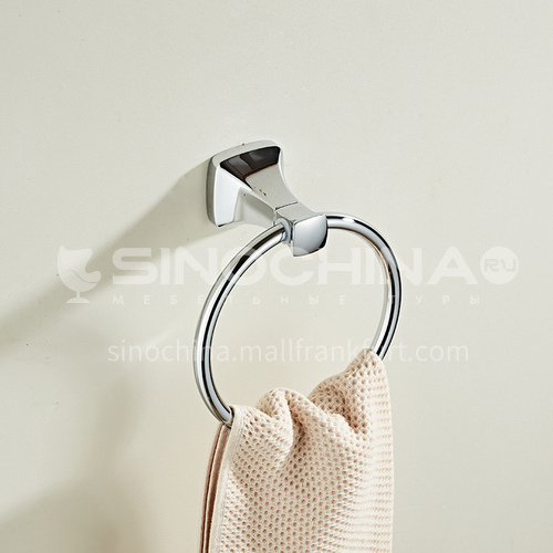 Bathroom hardware accessories factory direct sale silver towel ring towel hanging rod towel hanging ring MY80805