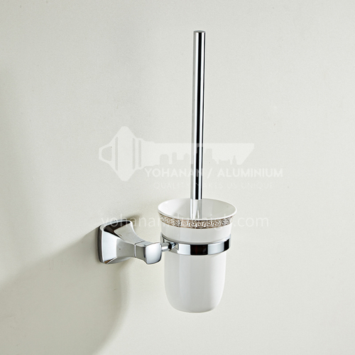 Bathroom accessories stainless steel toilet brush set factory direct sales toilet cleaning toilet brush head MY80808 silver