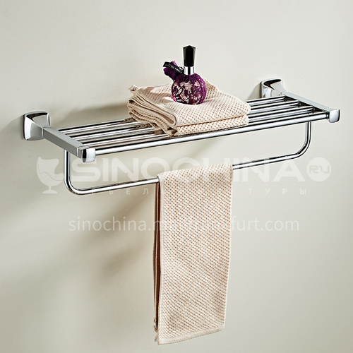 Bathroom rack towel rack stainless steel towel rack silver towel rack bathroom towel bar MY80814