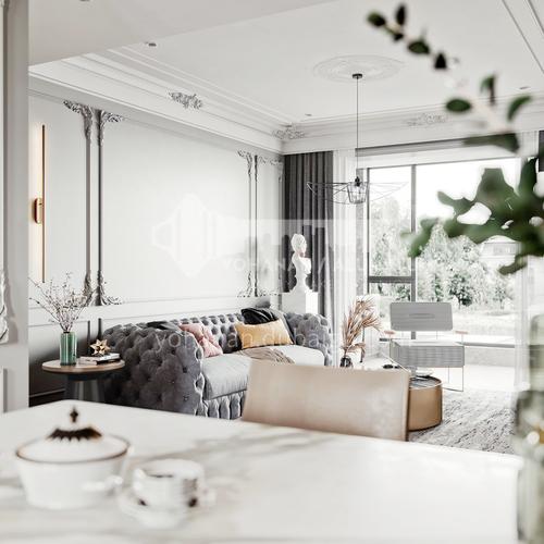 Apartment Design-Stylish French Apartment Interior Design AFS1033
