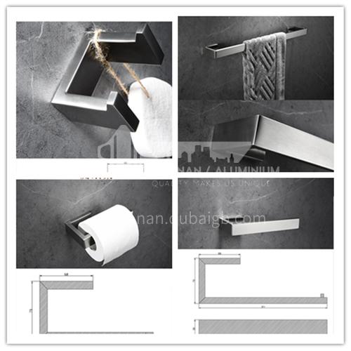 304 stainless steel brushed towel bar single towel rack bathroom pendant toilet rack MY78611