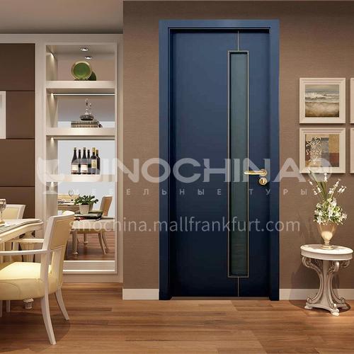 Simple design mute composite paint solid wood door room door 44