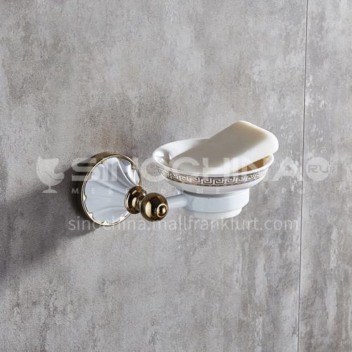 Baked white paint gilded European style soap butterfly bathroom single dish soap net bathroom pendant MY80303 white
