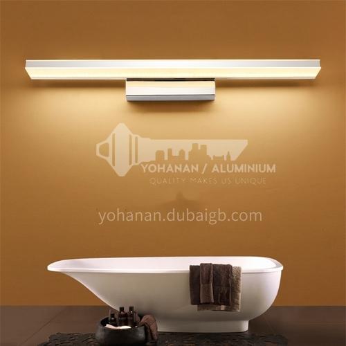 Simple led mirror front light waterproof and anti-fog aluminum bathroom lamp hotel modern bathroom mirror lamp JS-6420