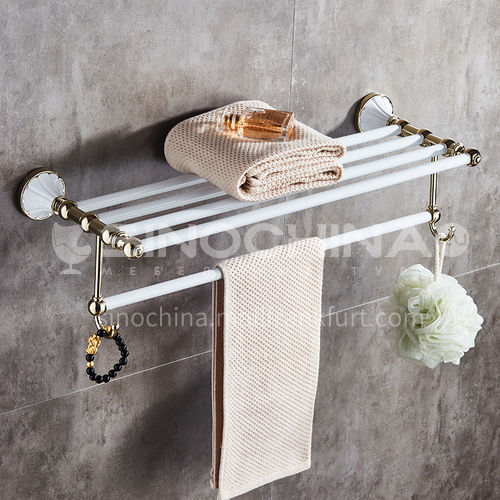 Bathroom towel rack Stainless steel towel rack White gold-plated towel rack Toilet towel bar 80314-1 white