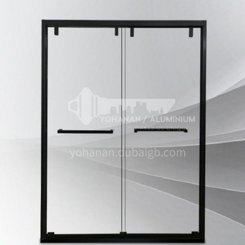 Shower room    household shower glass   tempered glass    shower partition    black color