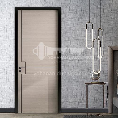 Cheap and affordable environmentally friendly composite wooden door hotel apartment door guest room door7