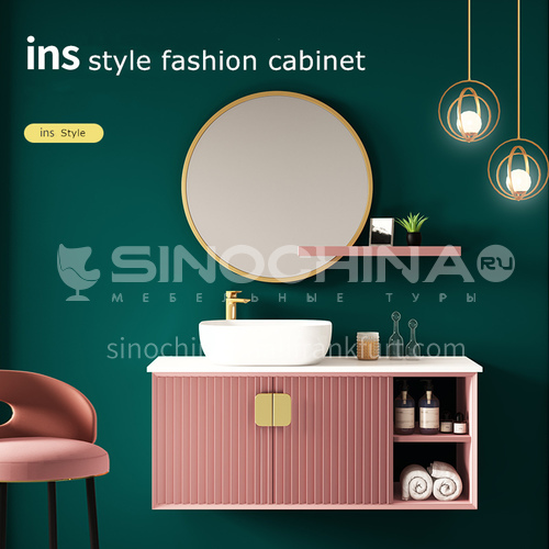 Hot sale tailor made Italian entry luxury solid wood vanity cabinet#lg769