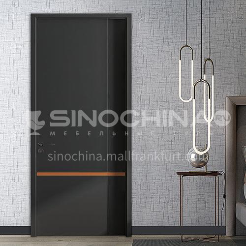 Black ink craft HDF bridge dynamics board wooden door modern apartment room door wooden door13