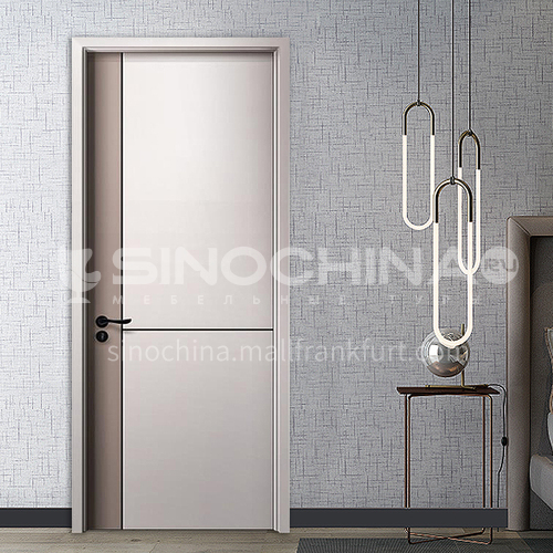 Composite paint bridge dynamic board black line wooden door room bathroom guest room paint wooden door16