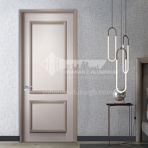 Fashion two-color solid wood line style water-based ink door49