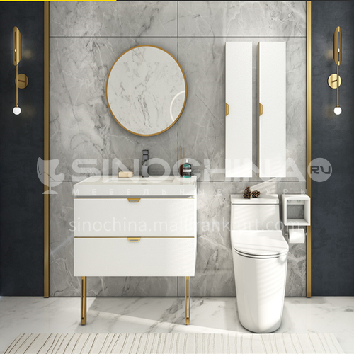 Elegant white floor modern style under counter bathroom vanity lg756A white