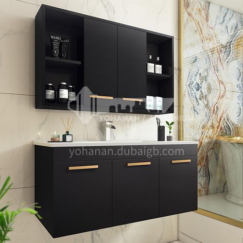 Classic black modern style solid wood bathroom vanity cabinet #lg752