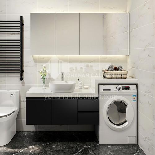 Modern style Customized Wall hung bathroom cabinet with washing machine cover board#8200 washing machine