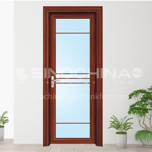 1.2mm simple design aluminum bathroom door with double temper glass