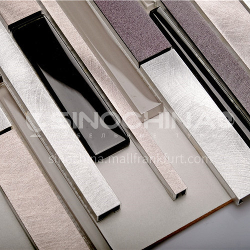 Aluminum Glass Irregular Spelling Metal Mosaic