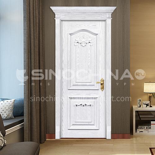 B Fraxinus mandshurica log solid wood door European style white door carved interior door price with Roman column 36