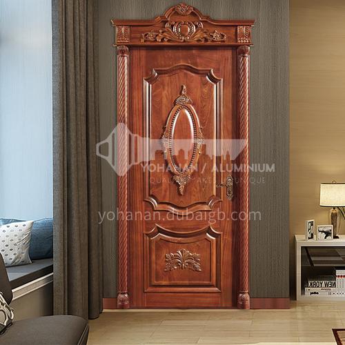B pineapple grid log door Saudi luxury style interior carved door room bedroom door price includes Roman column 28
