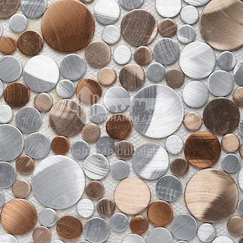 Aluminum (round) metal mosaic