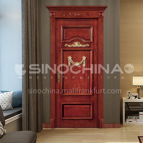 B Sapele log door soundproof room door three-dimensional golden carved door waterproof bathroom door interior door price includes Roman column 27