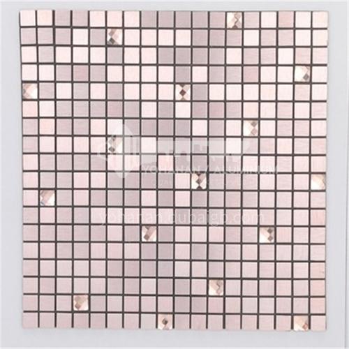 Aluminum (rose gold with diamonds) metal mosaic