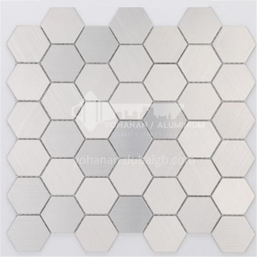 Aluminum (hexagonal) metal mosaic