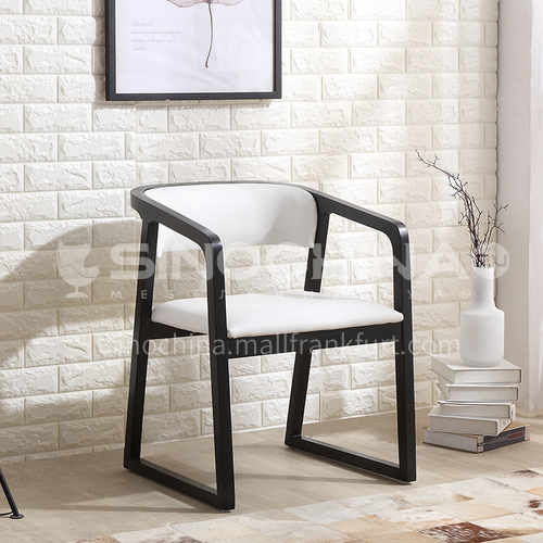 CL-AC022 Living room ash frame PU leather minimalist dining chair