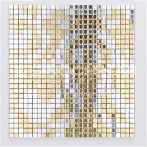 Aluminum (gold pattern) metal mosaic