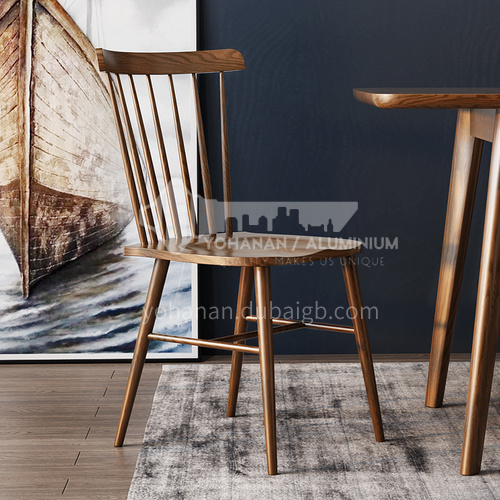 CL-YC201 High-grade ash wood high-density board dining chair for restaurant