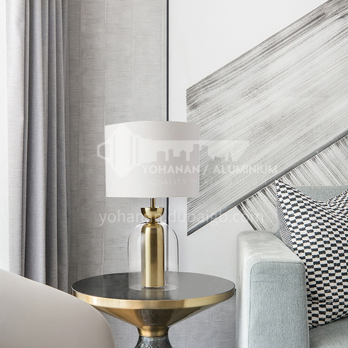 Fashion creative metal glass lamp simple post modern creative bedroom bedside table lamp   YDH-8276