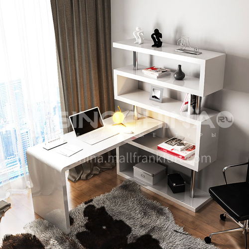 CL-KD002 Home Office PU Paint Stainless Steel Tube Desk