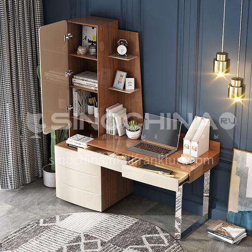CL-KD007 Home office desk with veneer stainless steel feet