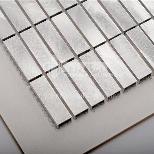 Aluminum (silver random pattern) metal mosaic