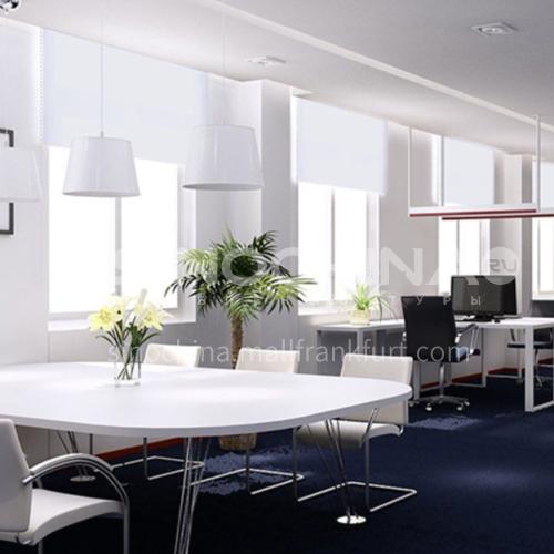 Modern minimalist style home office flame retardant fabric 70% blackout roller blind QW-JL001