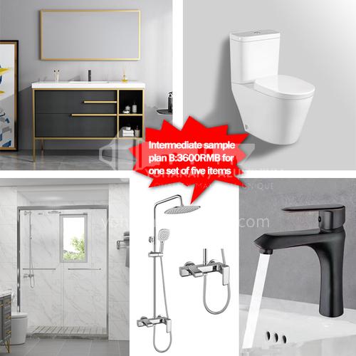 Sanitary ware sample package-Intermediate sample package Plan B
