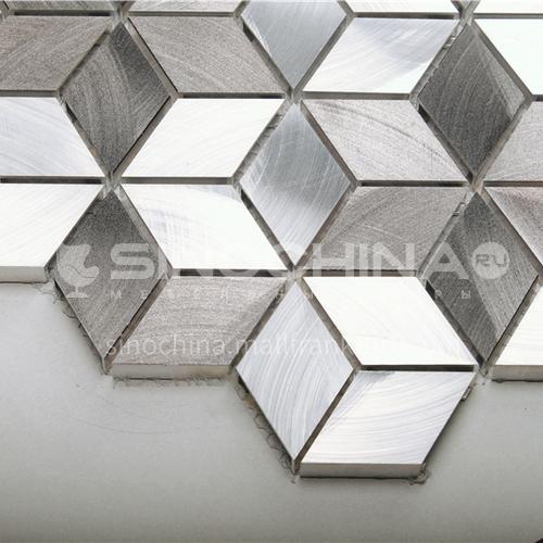 Aluminum Diamond Shape Metal Mosaic