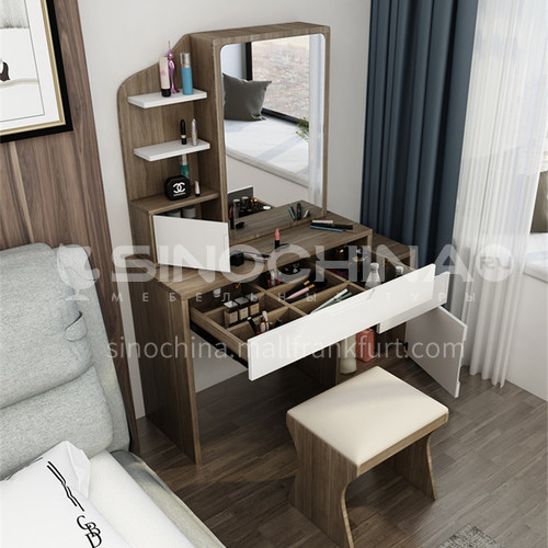 CL-TZ101B- Nordic modern style, environmentally friendly MDF, veneer, external paint, Nordic modern dressing table